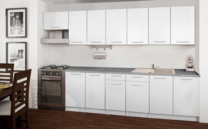 Rovná Basic - kuchyňský blok F 300 cm