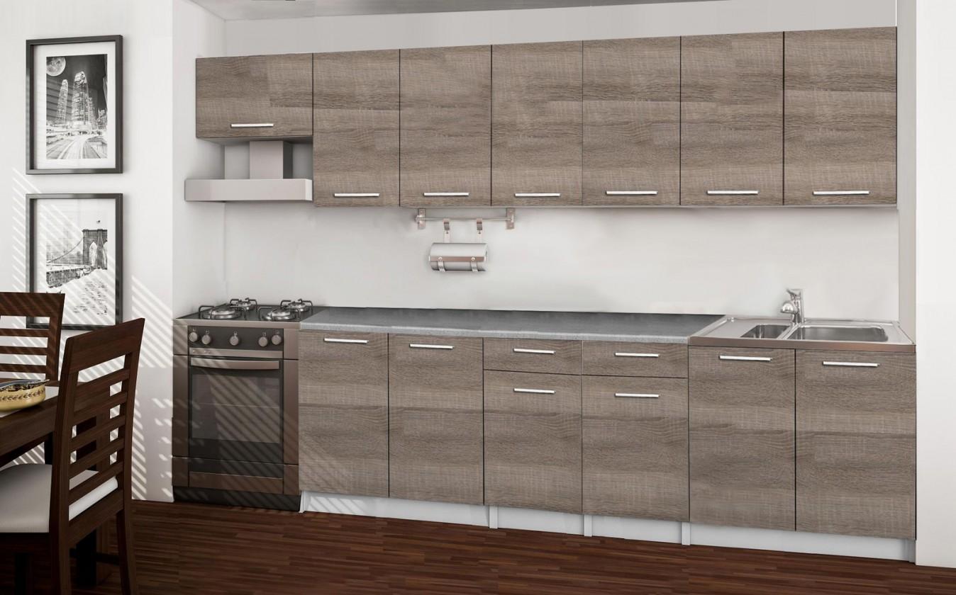 Rovná Basic - kuchyňský blok F, 300 cm (dub truffle)