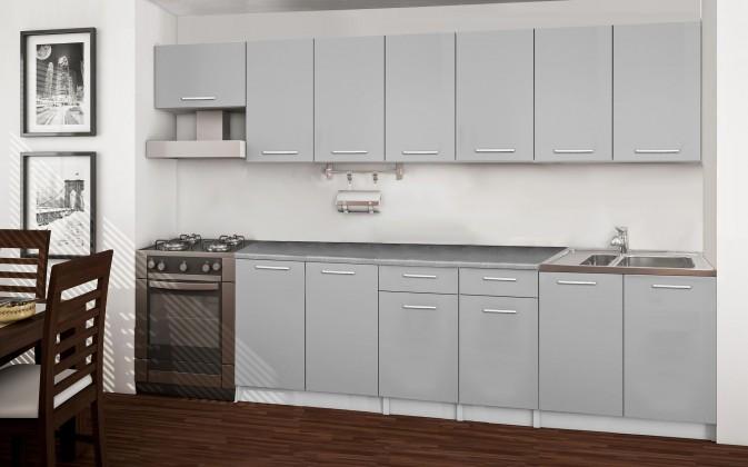 Rovná Basic - kuchyňský blok F, 300 cm (šedá)