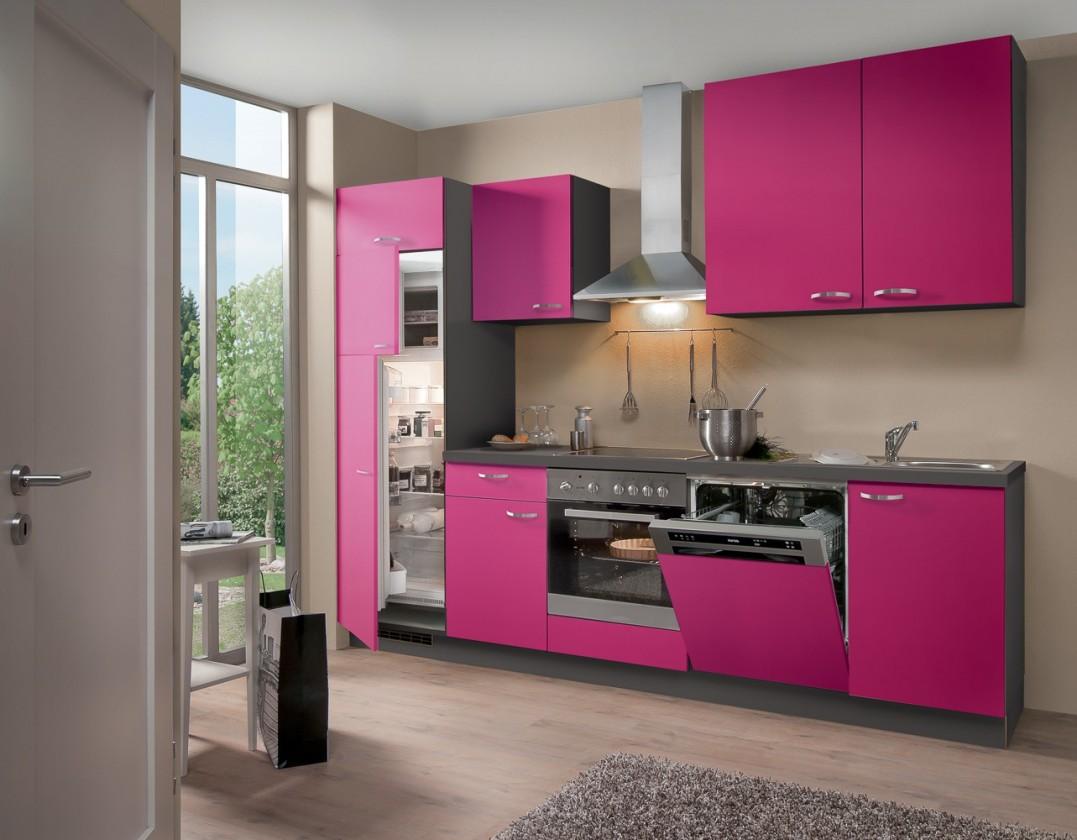 Rovná Blues - Kuchyňský blok, 2,8 m (růžová)