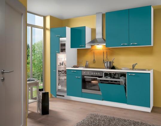 Rovná Blues - Kuchyňský blok, 2,8 m (tyrkysová)