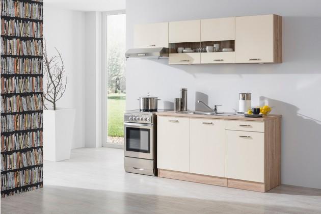 Rovná Bria - Kuchyňský blok 210 A (bardolino/vanilka lesk/bardolino)