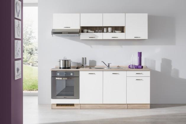 Rovná Bria - Kuchyňský blok 210 B (bardolino/bílá lesk/PD bardolino)