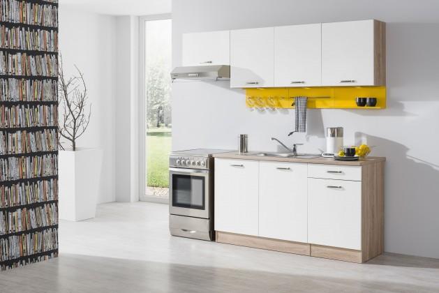 Rovná Bria - Kuchyňský blok 210 C (bardolino/bílá lesk/PD bardolino)