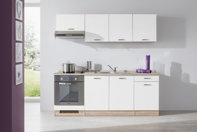 Rovná Bria - Kuchyňský blok 210 D (bardolino/bílá lesk/PD bardolino)