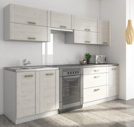 Rovná Carmen - Kuchyňský blok B, 200/260 (dub šedý, travertin tmavý)
