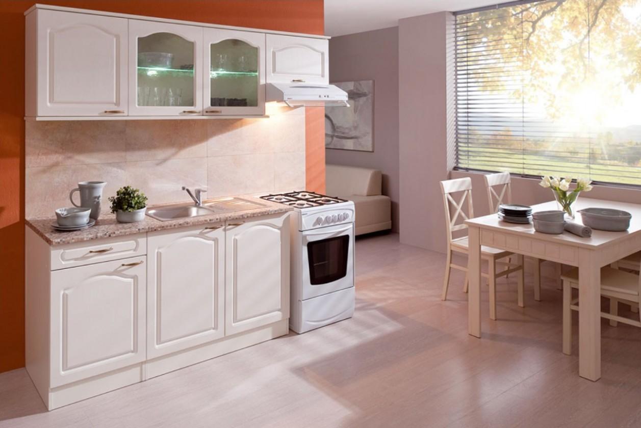 Rovná Julia - Kuchyňský blok 210 A (vanilka/magnolie/PD tropica beige)
