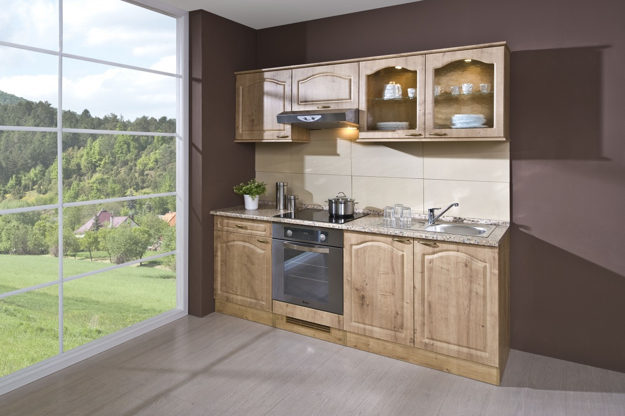 Rovná Julia - Kuchyňský blok 210 B (dub arlington/PD traini beige)