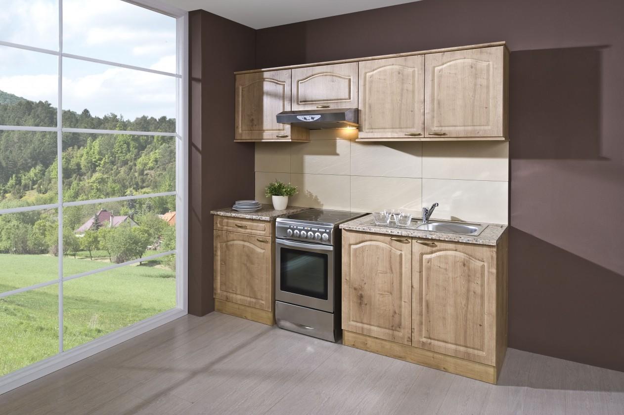 Rovná Julia - Kuchyňský blok 210 C (dub arlington/PD traini beige)