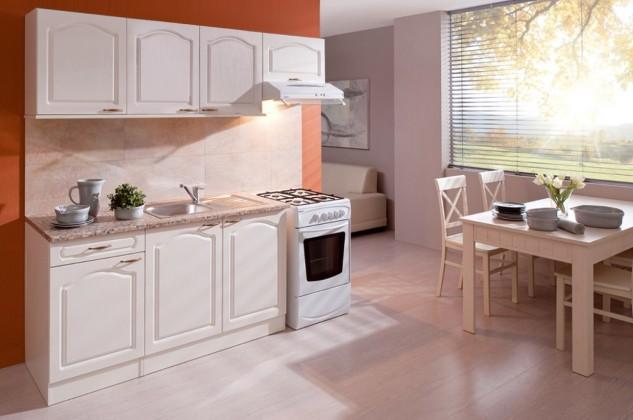 Rovná Julia - Kuchyňský blok 210 C (vanilka/magnolie/PD tropica beige)