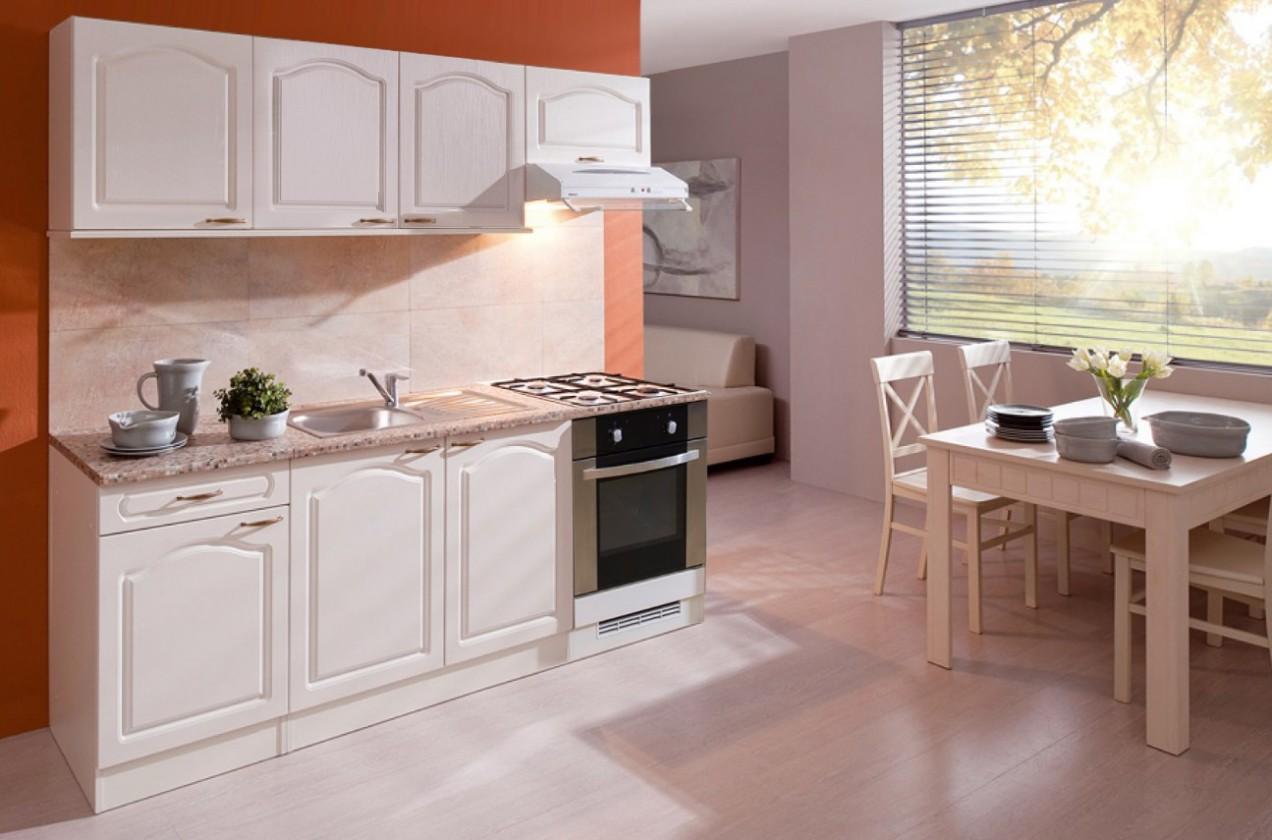 Rovná Julia - Kuchyňský blok 210 D (vanilka/magnolie/PD tropica beige)