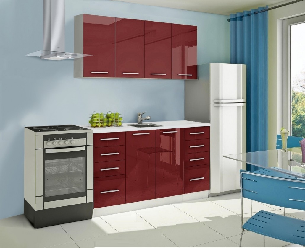 Rovná Mondeo - kuchyňský blok A 160 cm (pracovní deska - mramor)