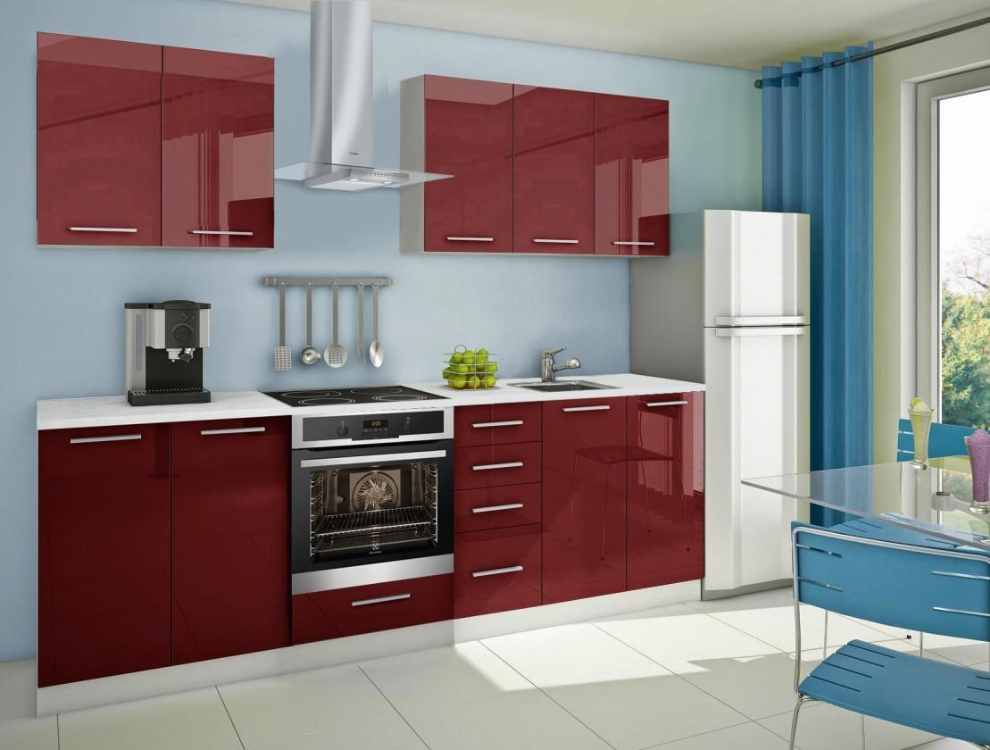 Rovná Mondeo - kuchyňský blok A 200/260 cm (pracovní deska - mramor)