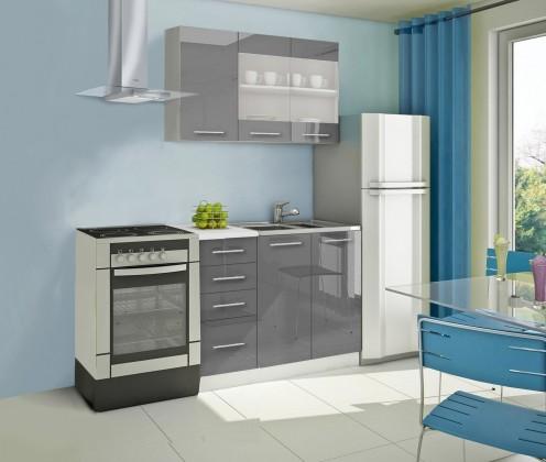 Rovná Mondeo - Kuchyňský blok B, 120 cm (šedá, lesk)