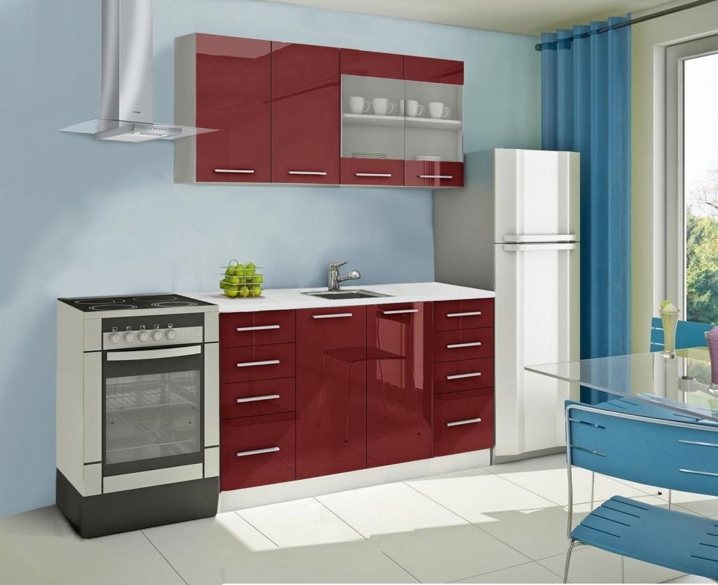 Rovná Mondeo - kuchyňský blok B 160 cm (pracovní deska - mramor)