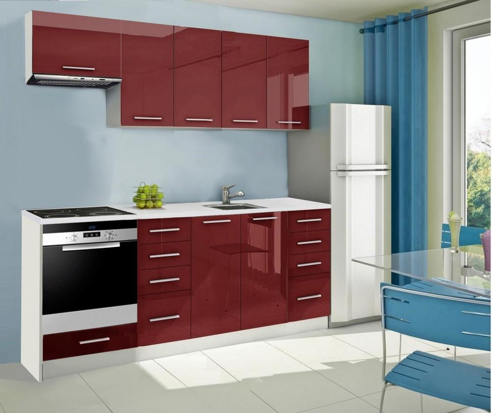 Rovná Mondeo - kuchyňský blok B 220 cm (pracovní deska - mramor)