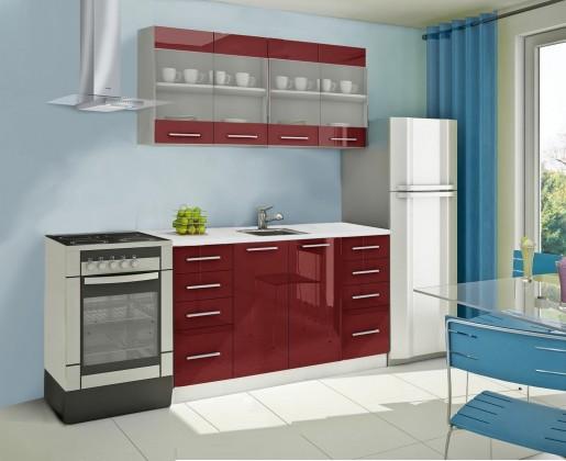 Rovná Mondeo - kuchyňský blok C 160 cm (pracovní deska - mramor)