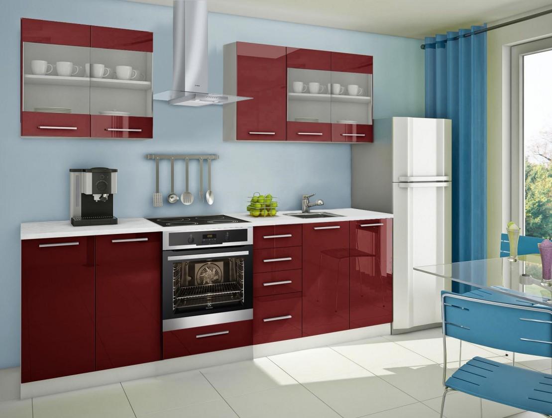 Rovná Mondeo - kuchyňský blok C 200/260 cm (pracovní deska - mramor)