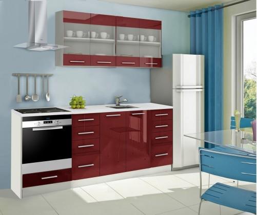 Rovná Mondeo - kuchyňský blok E 160/220 cm (pracovní deska - mramor)