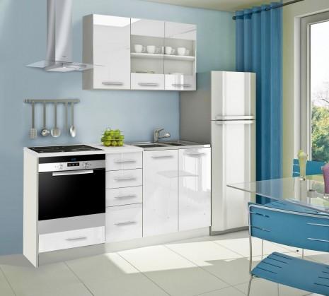 Rovná Mondeo - Kuchyňský blok E, 180 cm (bílá, lesk)