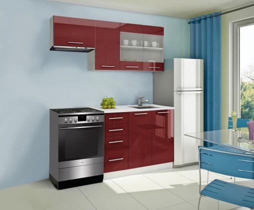 Rovná Mondeo - kuchyňský blok F 180/120 cm (pracovní deska - mramor)
