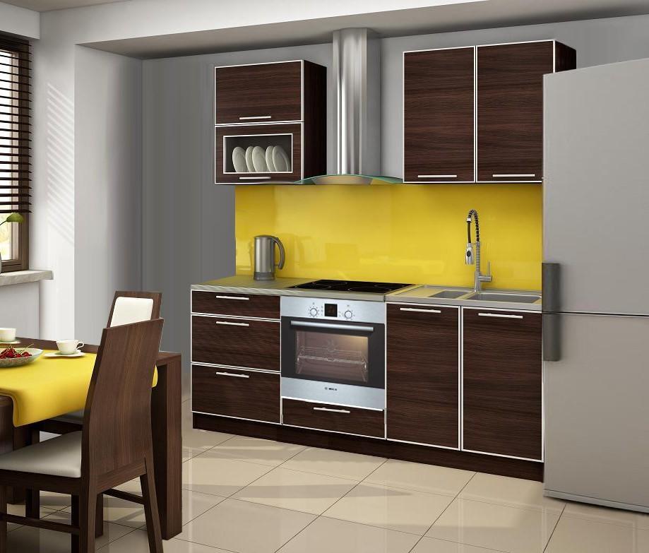 Rovná Porto Bis - Kuchyňský blok, 2,0 m (wenge)
