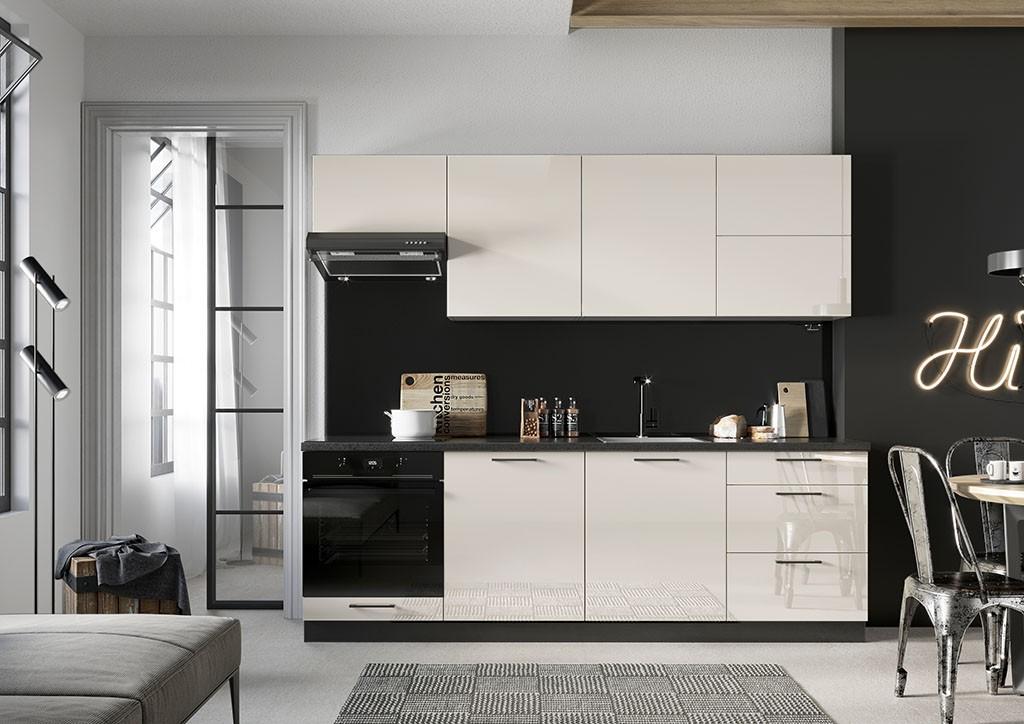 Rovné kuchyně Kuchyně Betty 240 cm (jasmín, lesk)
