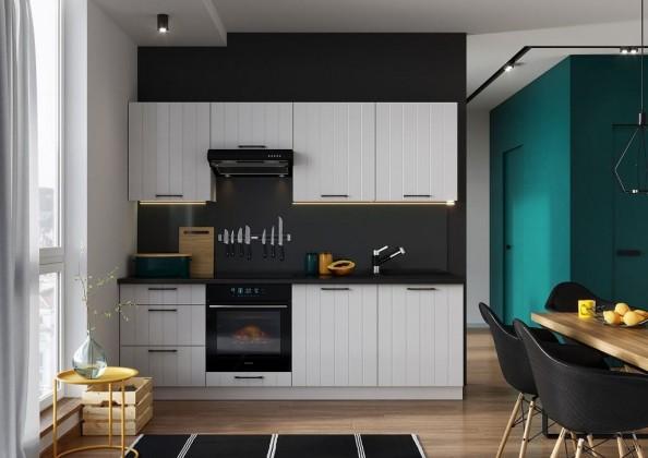 Rovné kuchyně Kuchyně Grace 240 cm (bílá mat)