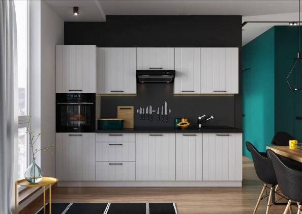 Rovné kuchyně Kuchyně Grace 280 cm (bílá mat)