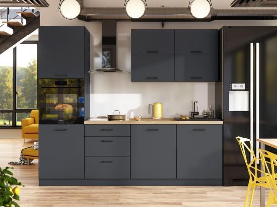 Rovné kuchyně Kuchyně Lisa - 240 cm (šedá)