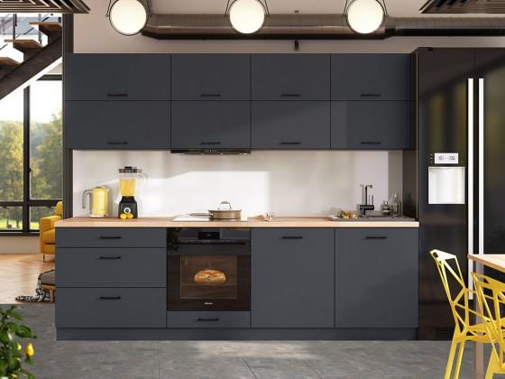 Rovné kuchyně Kuchyně Lisa - 260 cm (šedá)