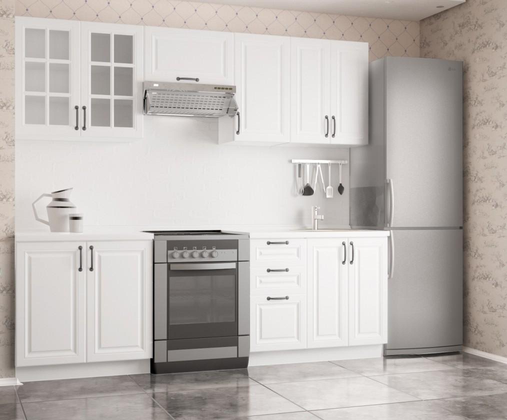 Rovné kuchyně Kuchyně Michelle - 240 cm (bílá)