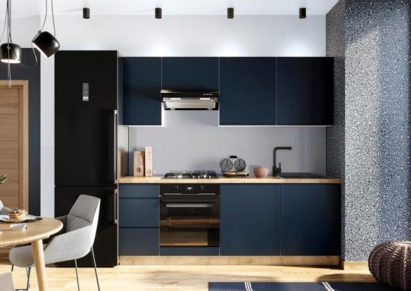 Rovné kuchyně Kuchyně Minea 220 cm (modrá mat)