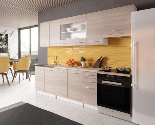 Rovné kuchyně Kuchyně Paloma 260 cm (dub sonoma)