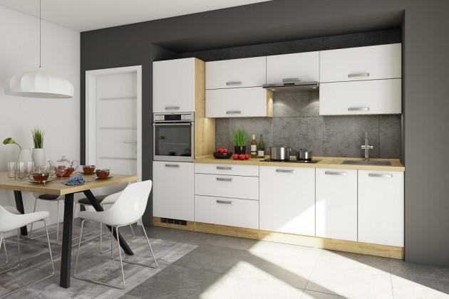 Rovné kuchyně Kuchyně Sabrina - 280 cm (bílá/dub arlington)