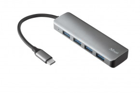 Rozbočovač Trust Halyx, USB, 4 porty, rychlost až 5 Gbps