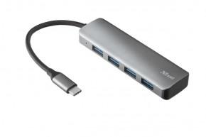 Rozbočovač Trust Halyx, USB-C, 4 porty, rychlost až 5 Gbps