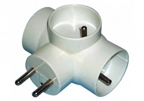 Rozbočovací zásuvka Emos P0024, 3xkulatá, bílá
