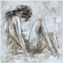 Ručně malovaný obraz Beauty (100x100 cm)