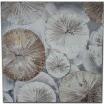 Ručně malovaný obraz Circles (80x80 cm)