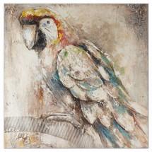 Ručně malovaný obraz Parrot (100x100 cm)