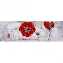 Ručně malovaný obraz Redland (50x150 cm)