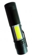 Ruční svítilna Peacock S600COB, nabíjecí, 3W XPE + 3W LED COB