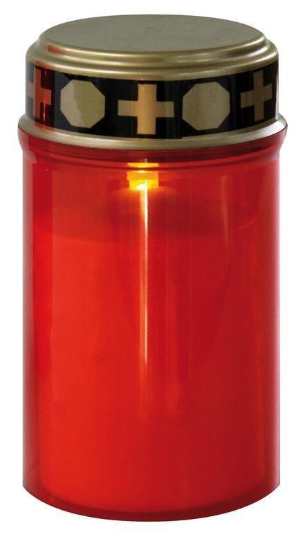 Ruční svítilny Hřbitovní svíčka nízká, červená LED