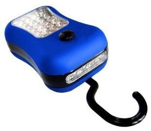 Ruční svítilny LED svítilna (S-3534) pogumovaná 24 + 4LED 3xR3 mix barev
