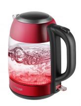 Rychlovarná konvice Concept RK4081, červená/sklo, 1,7l