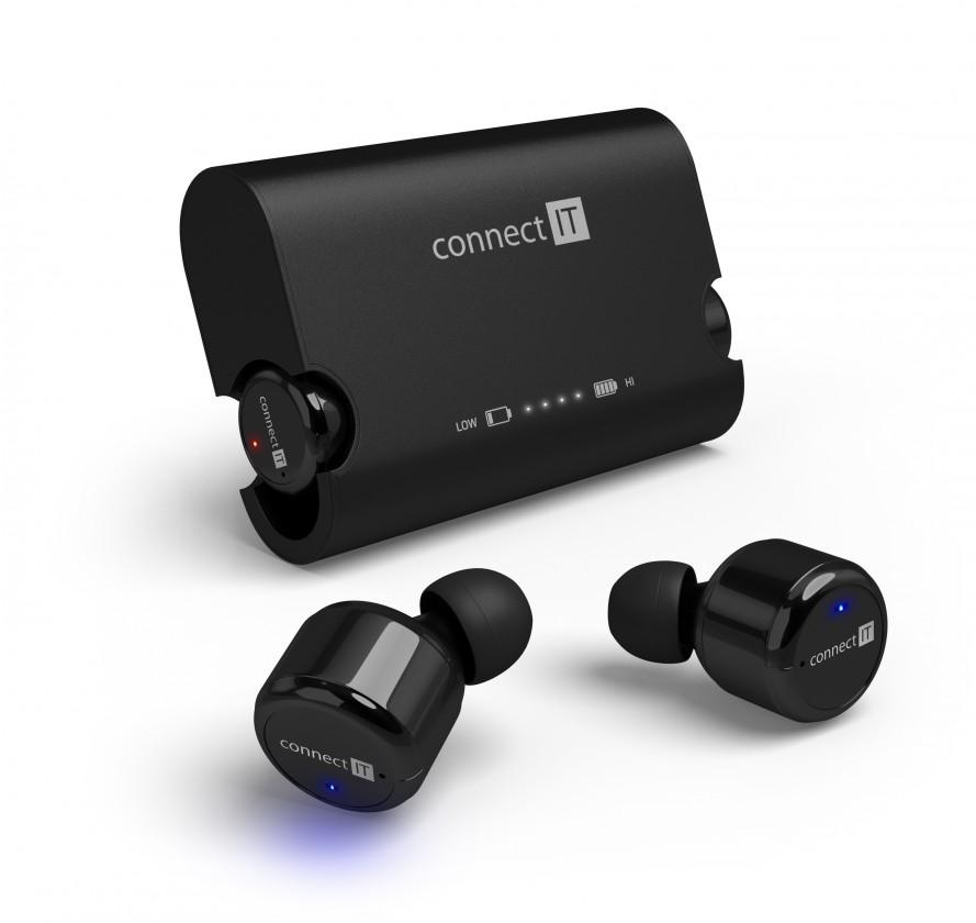 S mikrofonem Connect IT True Wireless HYPER-BASS černá CEP-9000-BK ROZBALENO