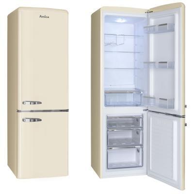 S mrazákem dole Kombinovaná chladnička Amica KGCR 387100 B, A++