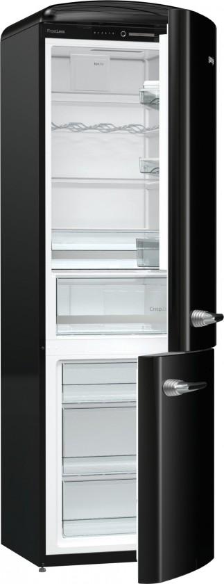 S mrazákem dole Kombinovaná lednice s mrazákem dole Gorenje ORK192BK, A++
