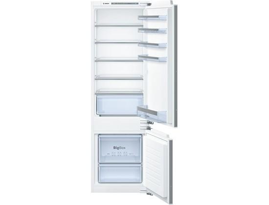 S mrazákem dole Vestavná kombinovaná lednice Bosch KIV 87VF30